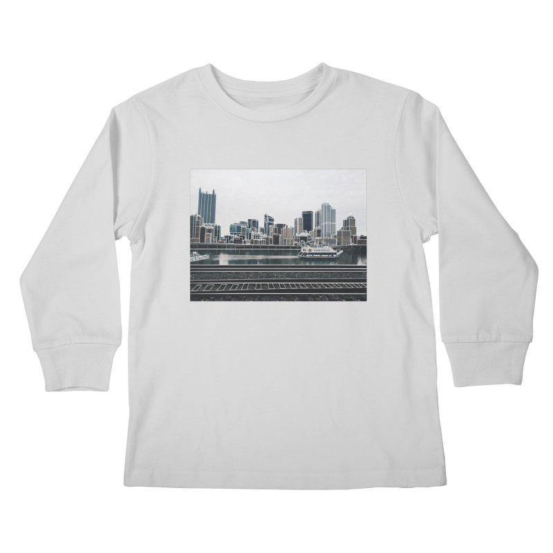 Pittsburgh Kids Longsleeve T-Shirt by Alison Sommer's Artist Shop