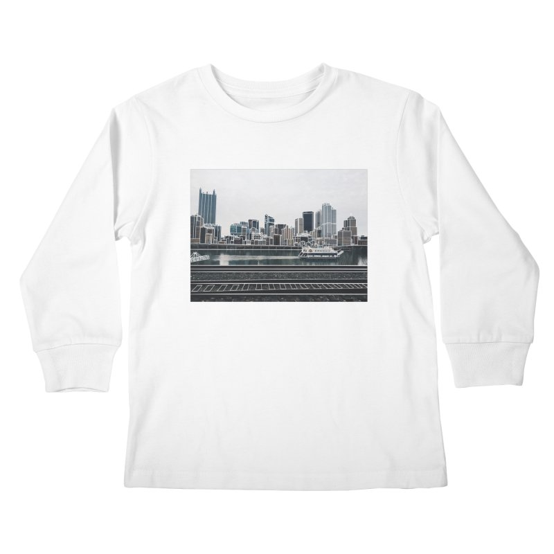Pittsburgh Kids Longsleeve T-Shirt by Alison Sommer's Artist Shop