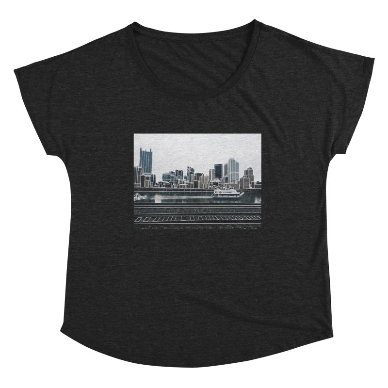 Pittsburgh Women's Scoop Neck by Alison Sommer's Artist Shop
