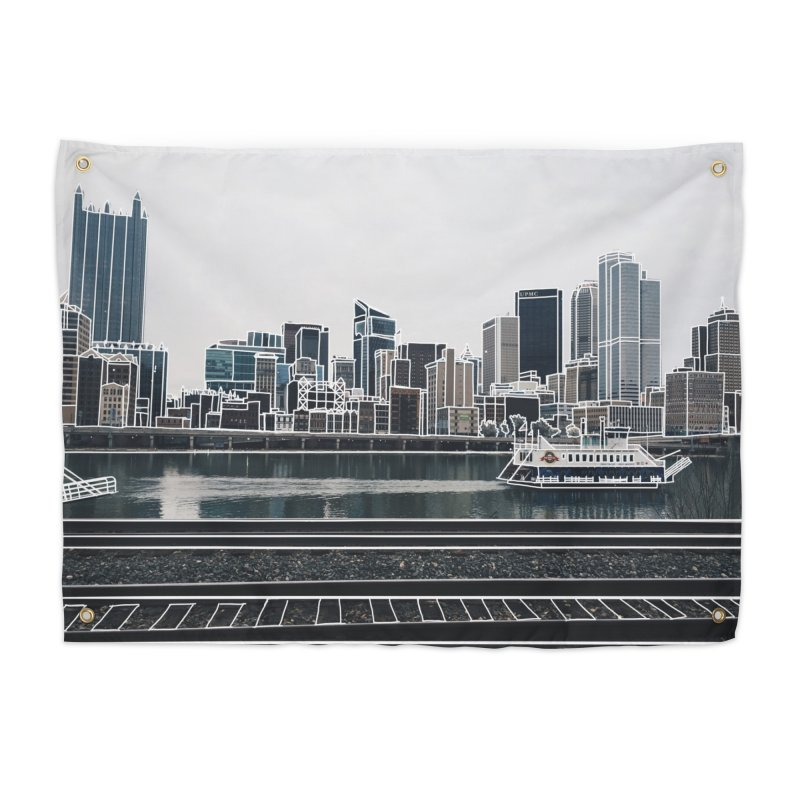 Pittsburgh Home Tapestry by Alison Sommer's Artist Shop