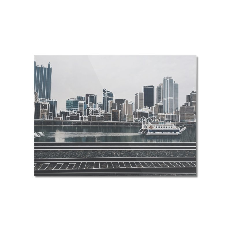 Pittsburgh Home Mounted Acrylic Print by Alison Sommer's Artist Shop