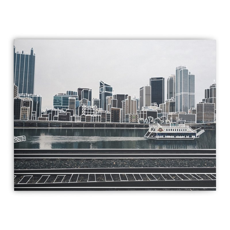 Pittsburgh Home Stretched Canvas by Alison Sommer's Artist Shop