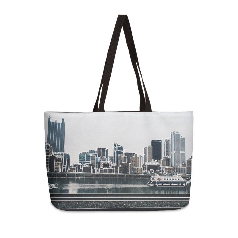 Pittsburgh Accessories Weekender Bag Bag by Alison Sommer's Artist Shop
