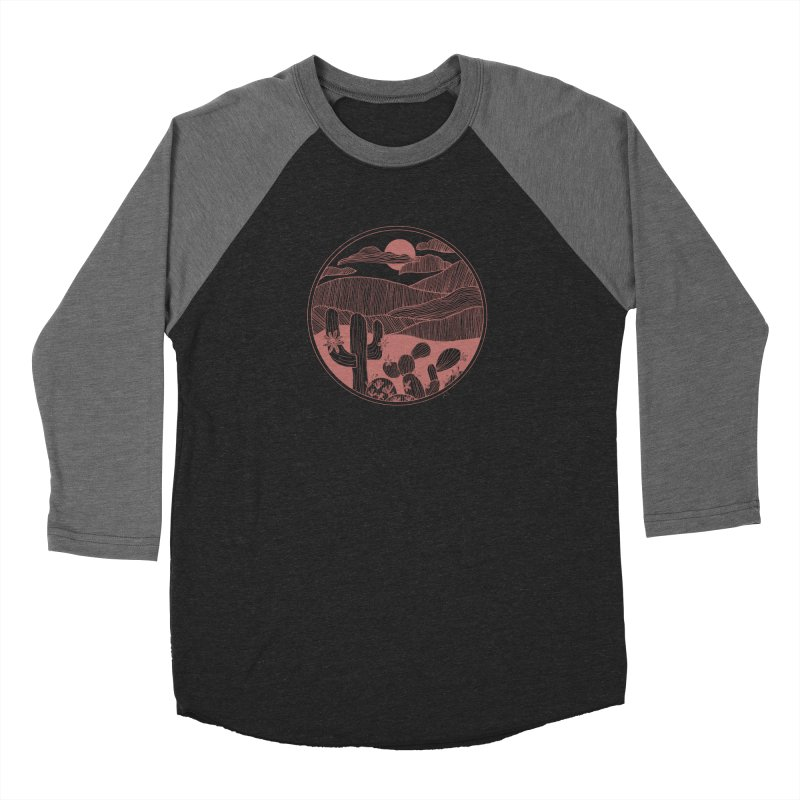 Desert Men's Baseball Triblend Longsleeve T-Shirt by Alison Sommer's Artist Shop