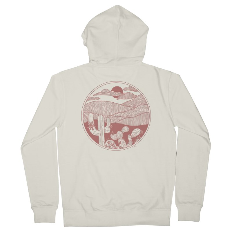 Desert Women's French Terry Zip-Up Hoody by Alison Sommer's Artist Shop