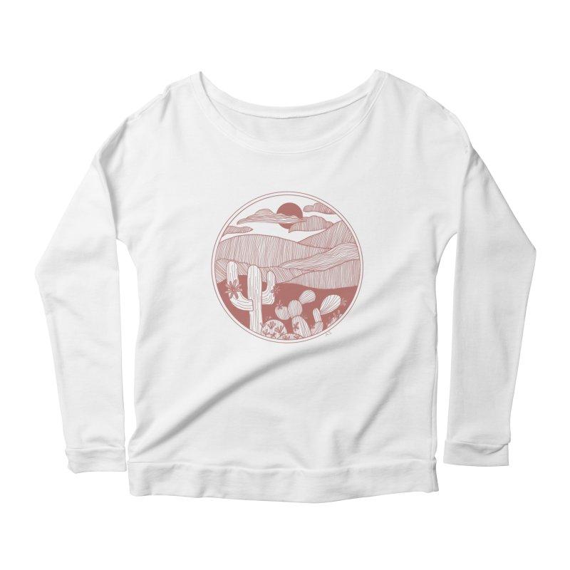 Desert Women's Scoop Neck Longsleeve T-Shirt by Alison Sommer's Artist Shop