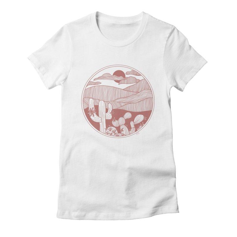 Desert Women's Fitted T-Shirt by Alison Sommer's Artist Shop