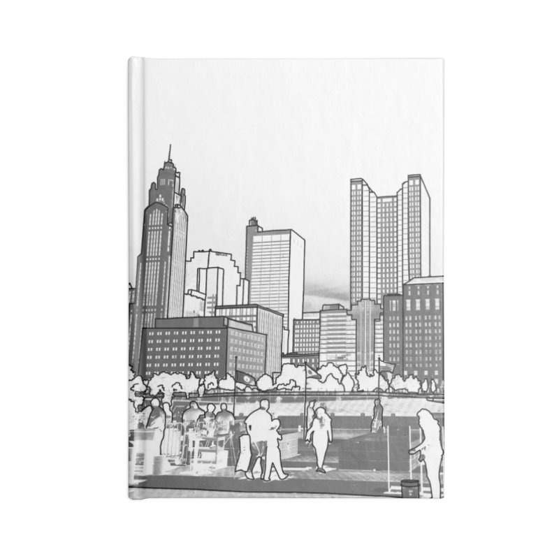Columbus Skyline (White) Accessories Notebook by Alison Sommer's Artist Shop