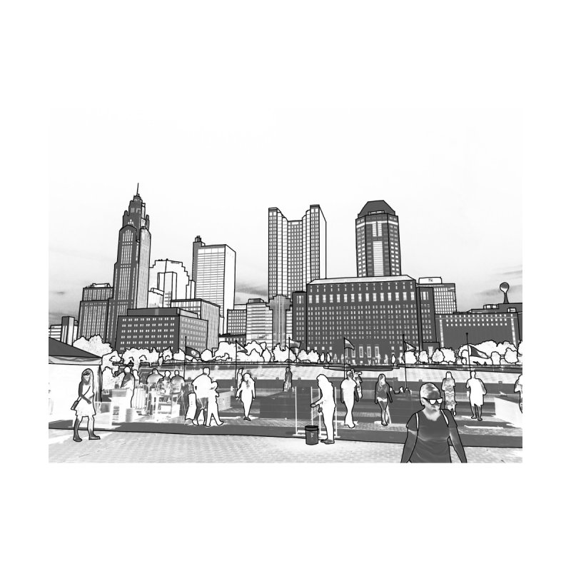 Columbus Skyline (White) Women's Longsleeve T-Shirt by Alison Sommer's Artist Shop
