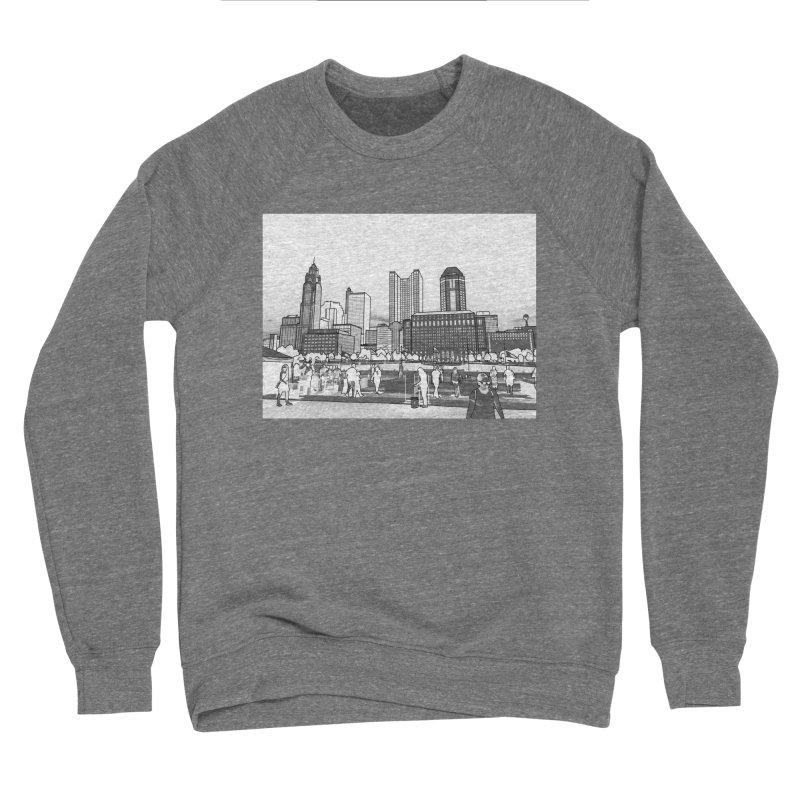 Columbus Skyline (White) Men's Sweatshirt by Alison Sommer's Artist Shop