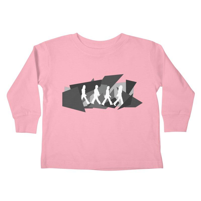 Abbey Road Kids Toddler Longsleeve T-Shirt by Alison Sommer's Artist Shop