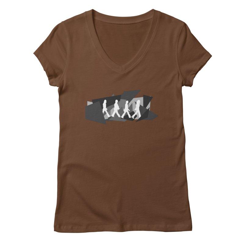 Abbey Road Women's Regular V-Neck by Alison Sommer's Artist Shop
