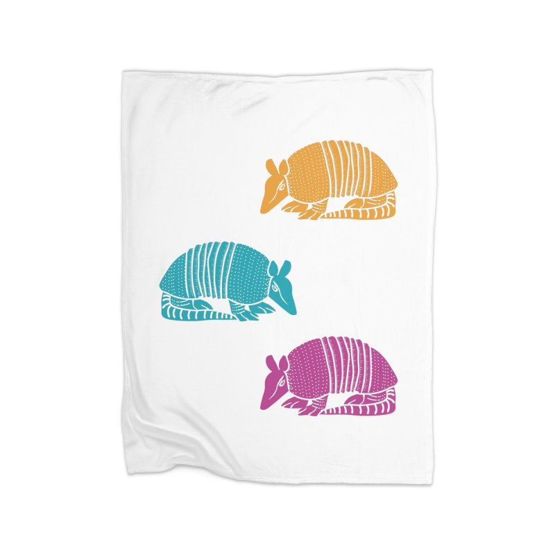 Colorful Armadillos Home Blanket by Alissa's Artist Shop