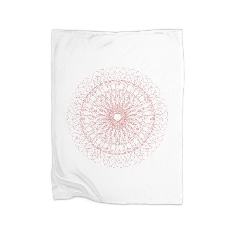 Mauve Over Mandala Home Blanket by Alissa's Artist Shop