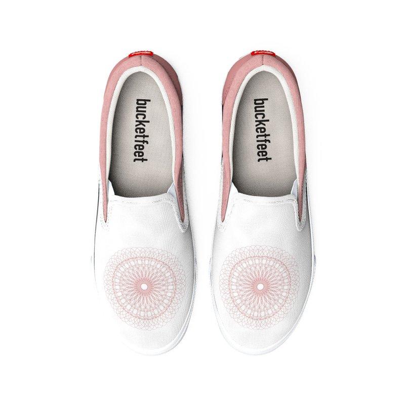Mauve Over Mandala Men's Shoes by Alissa's Artist Shop