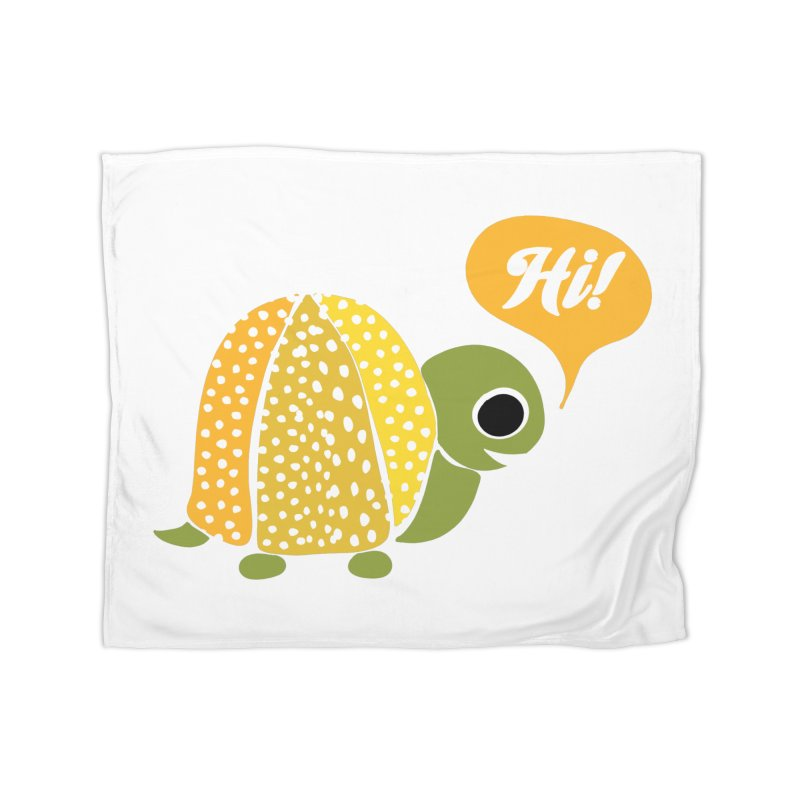 An Old Turtle Says Hi Home Blanket by Alissa's Artist Shop