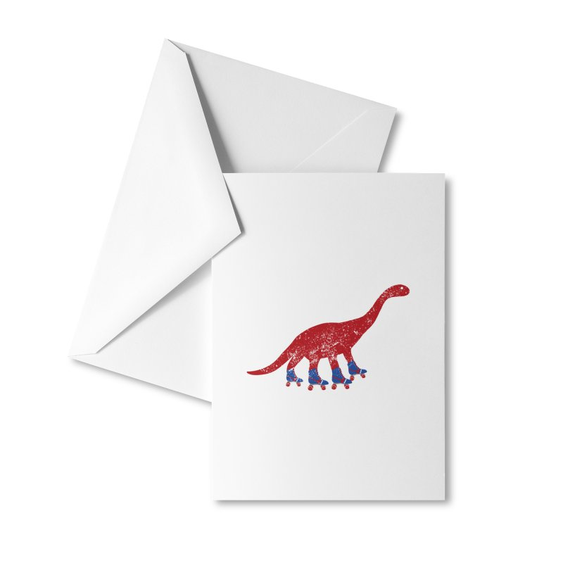 Dino-Mighty Accessories Greeting Card by Alissa's Artist Shop