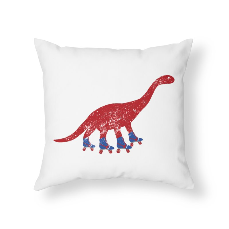 Dino-Mighty Home Throw Pillow by Alissa's Artist Shop
