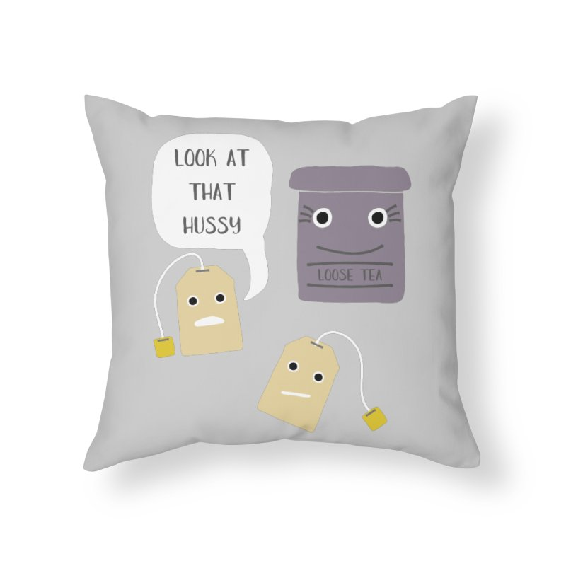 Loose Tea Home Throw Pillow by Alissa's Artist Shop