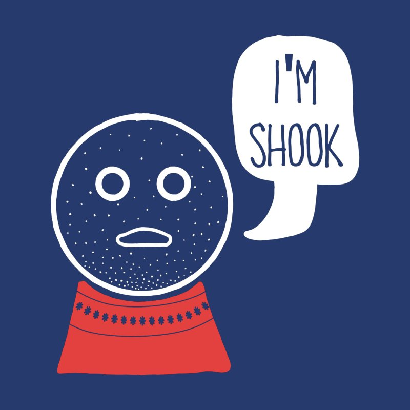 I'm Shook Accessories Greeting Card by Alissa's Artist Shop