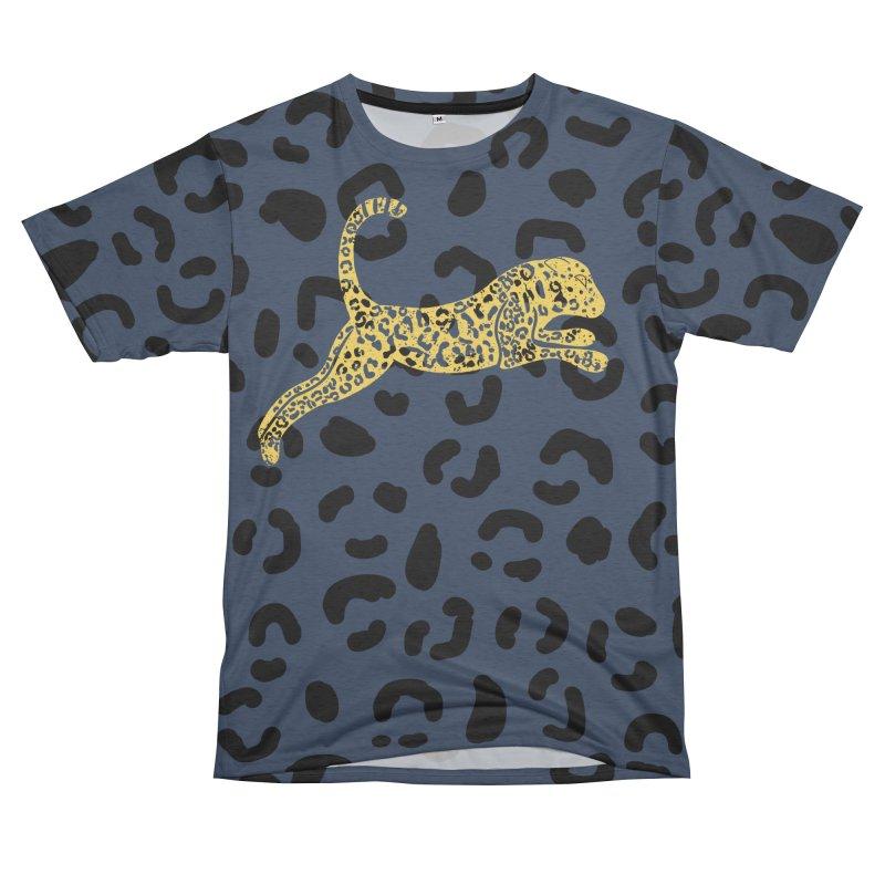Jumping Jaguar Men's Cut & Sew by Alissa's Artist Shop