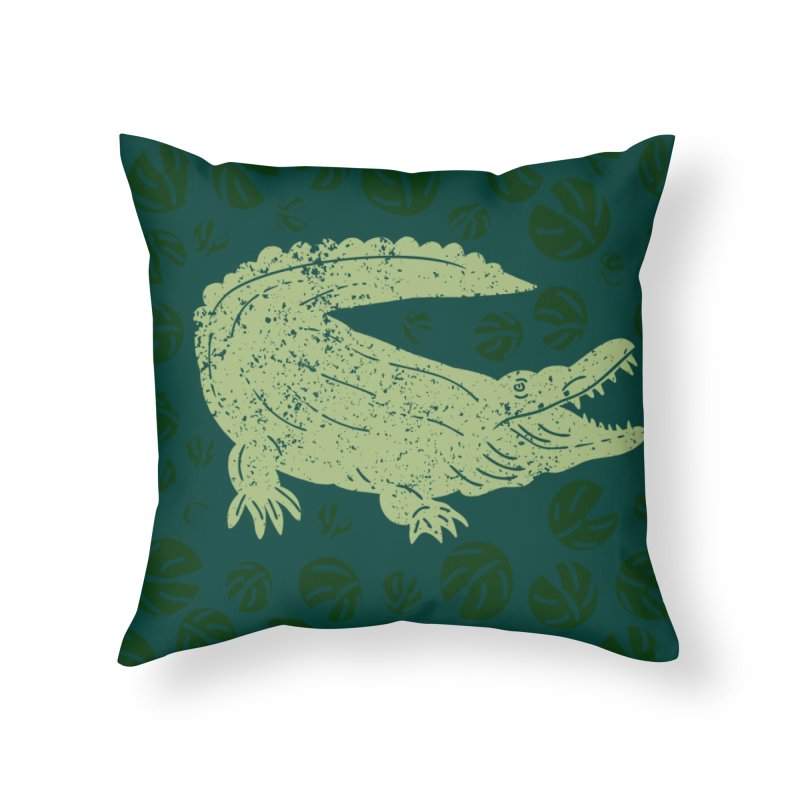 See You Later Gator Home Throw Pillow by Alissa's Artist Shop