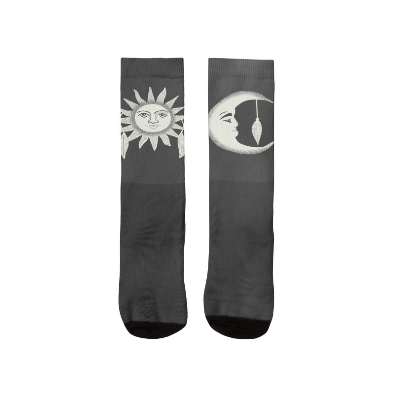 Day and Night Men's Socks by Alissa's Artist Shop