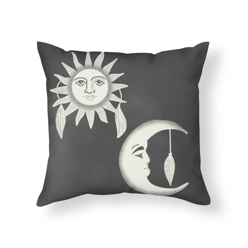 Day and Night Home Throw Pillow by Alissa's Artist Shop