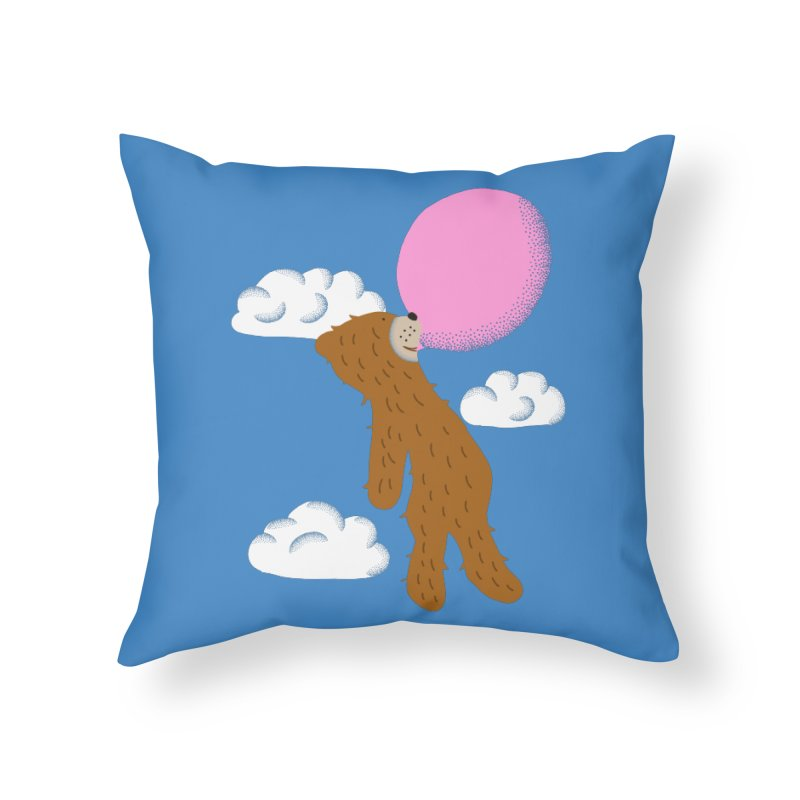 Full of Hot Air Home Throw Pillow by Alissa's Artist Shop