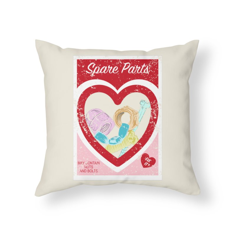 Spare Parts Home Throw Pillow by Alissa's Artist Shop