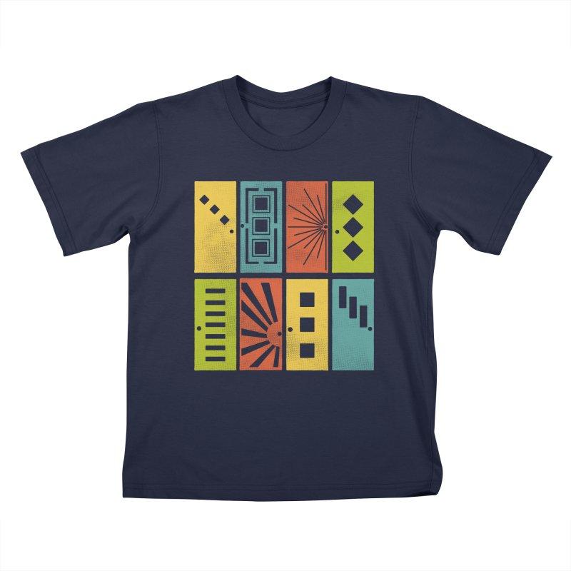 Shut the Front Door Kids T-Shirt by Alissa's Artist Shop