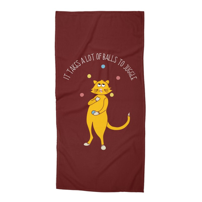 It Takes a Lot of Balls to Juggle Accessories Beach Towel by Alissa's Artist Shop