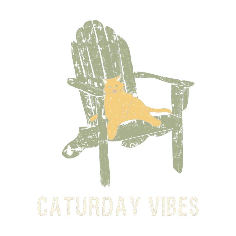 Caturday Vibes Men's T-Shirt by Alissa's Artist Shop