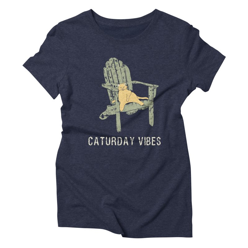 Caturday Vibes Women's T-Shirt by Alissa's Artist Shop