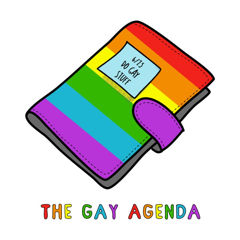 The Gay Agenda Accessories Bag by Alissa's Artist Shop