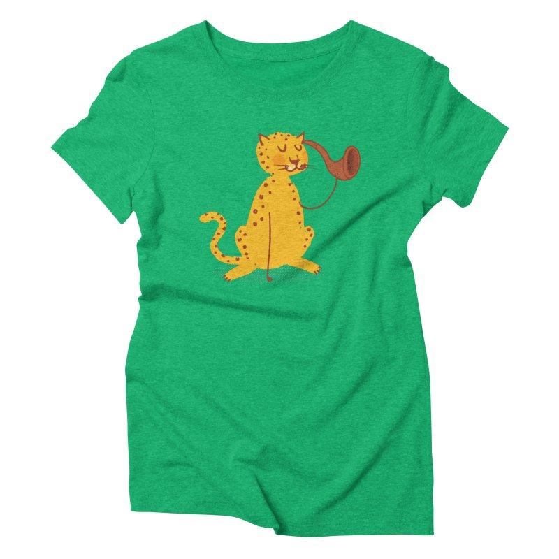 Def Leppard Women's Triblend T-Shirt by Zach Woomer's Little Shop