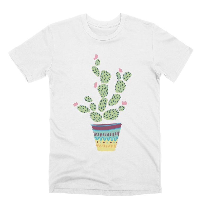 Cactus Number Three Men's Premium T-Shirt by Zach Woomer's Little Shop