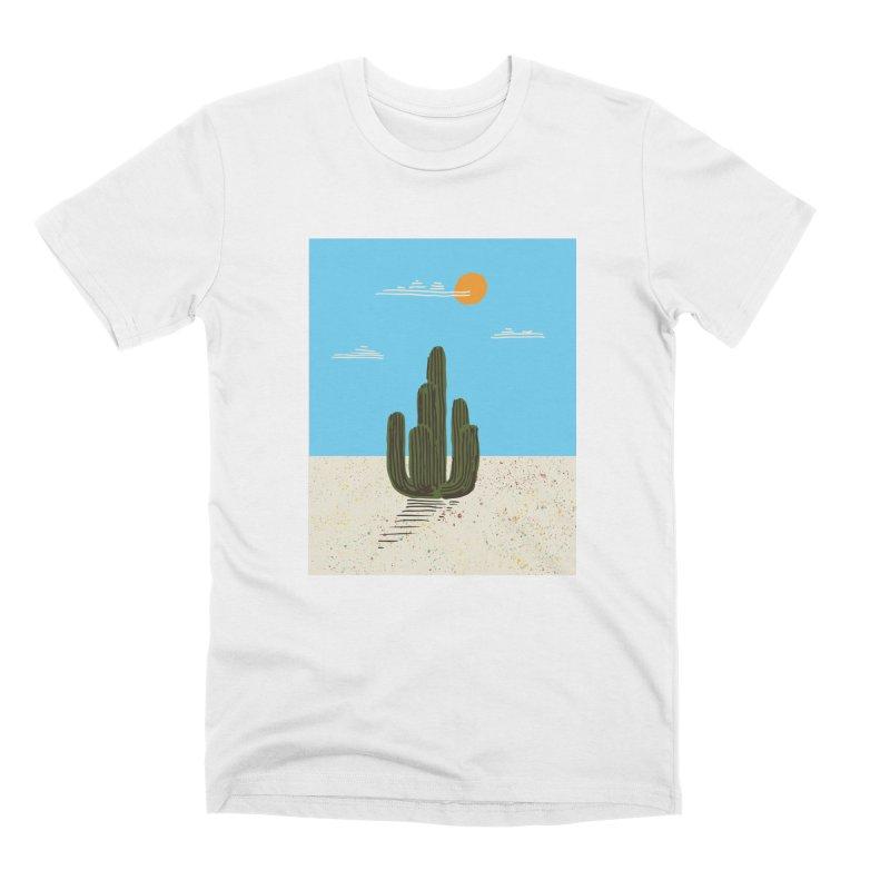 Cactus Number Four Men's Premium T-Shirt by Zach Woomer's Little Shop