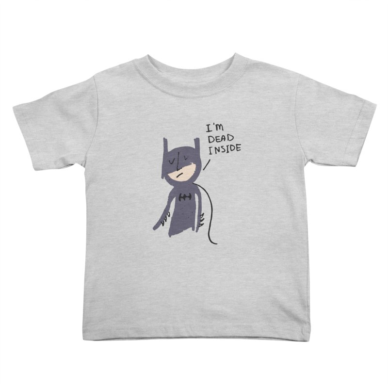 Sad Batman Kids Toddler T-Shirt by Zach Woomer's Little Shop