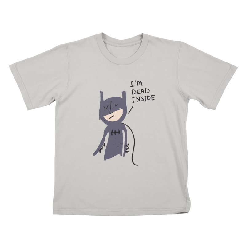 Sad Batman Kids T-Shirt by Zach Woomer's Little Shop