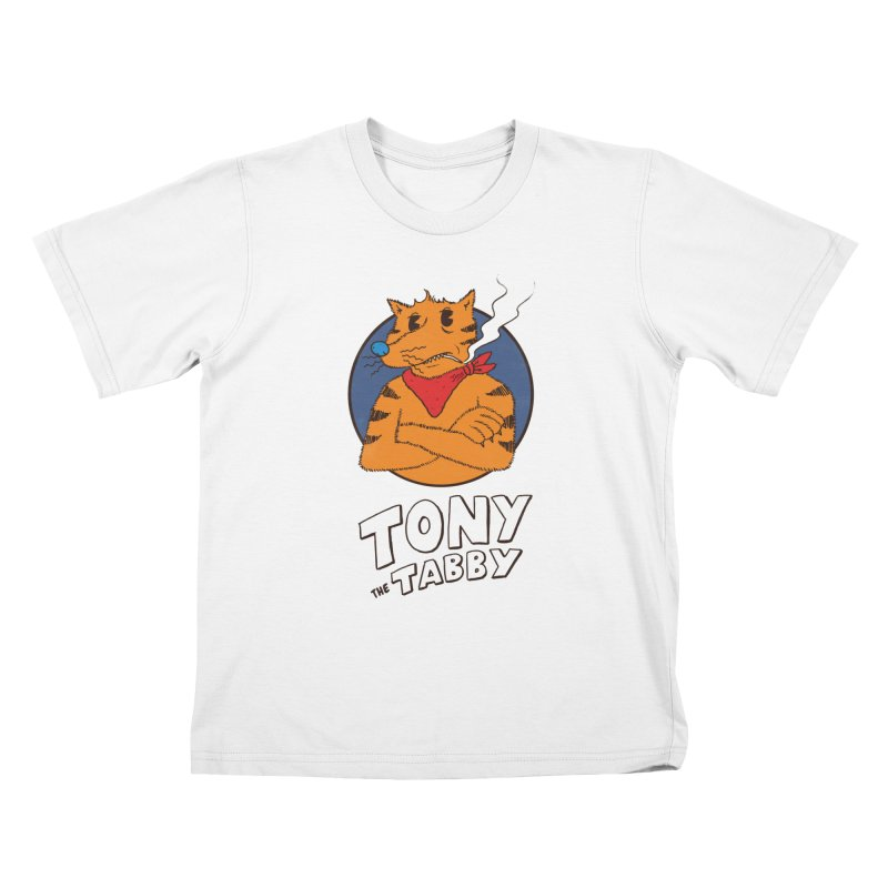 Tony the Tabby Kids T-Shirt by Zach Woomer's Little Shop