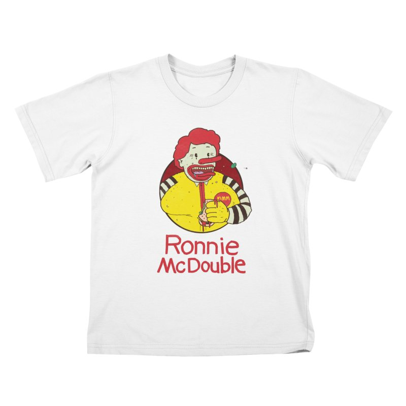 Ronnie McDouble Kids T-Shirt by Zach Woomer's Little Shop