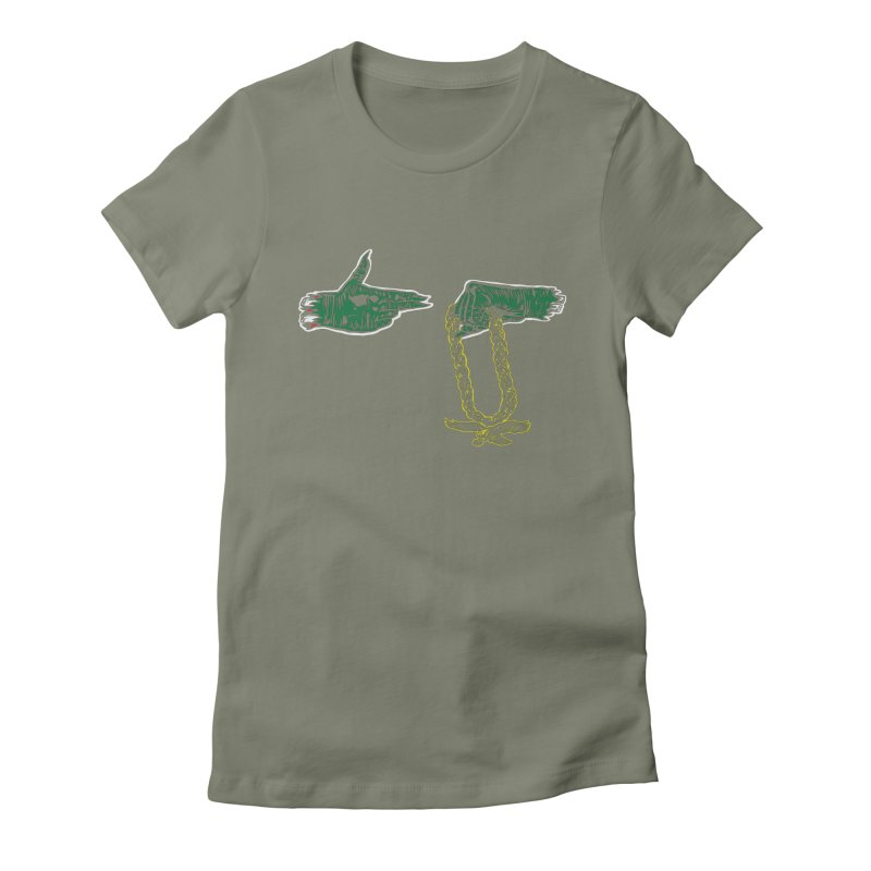 Run the Eagles Women's Fitted T-Shirt by Zach Woomer's Little Shop