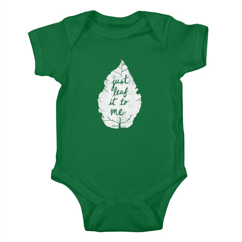 Just Leaf It to Me Kids Baby Bodysuit by Zach Woomer's Little Shop