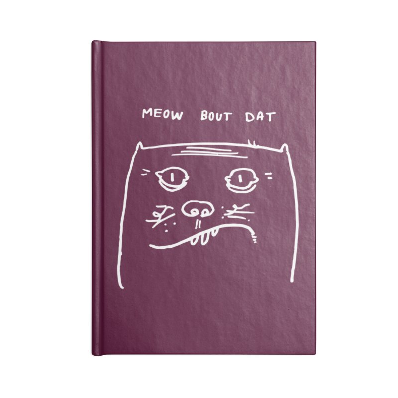 Cat Meow-side Accessories Notebook by Zach Woomer's Little Shop