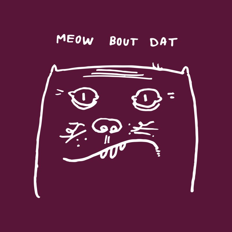 Cat Meow-side Men's T-Shirt by Zach Woomer's Little Shop
