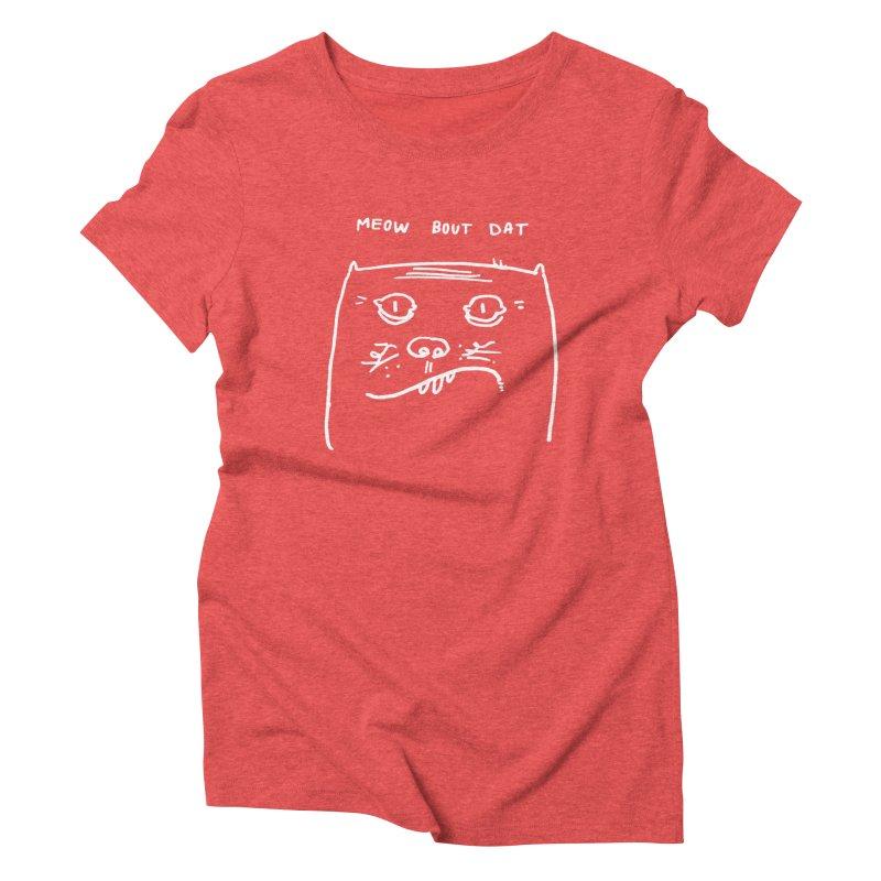 Cat Meow-side Women's T-Shirt by Zach Woomer's Little Shop