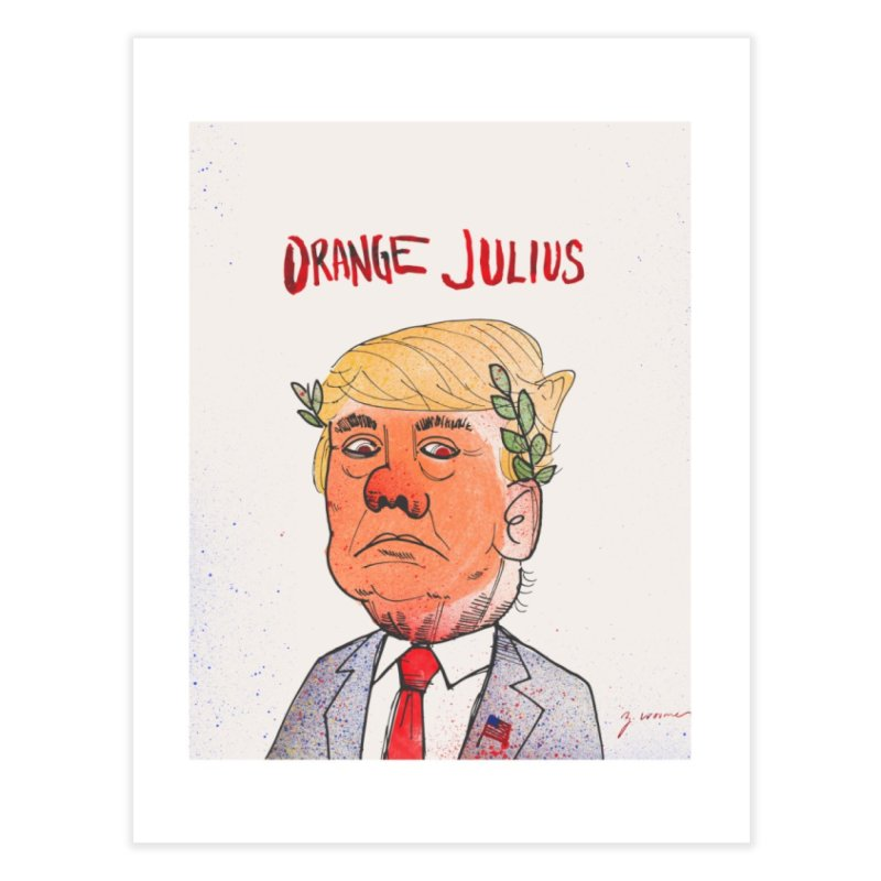Orange Julius Home Fine Art Print by Zach Woomer's Little Shop
