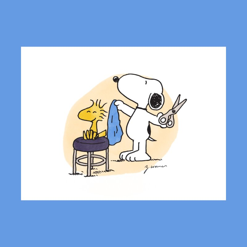 Snoopy & Woodstock Home Stretched Canvas by Zach Woomer's Little Shop