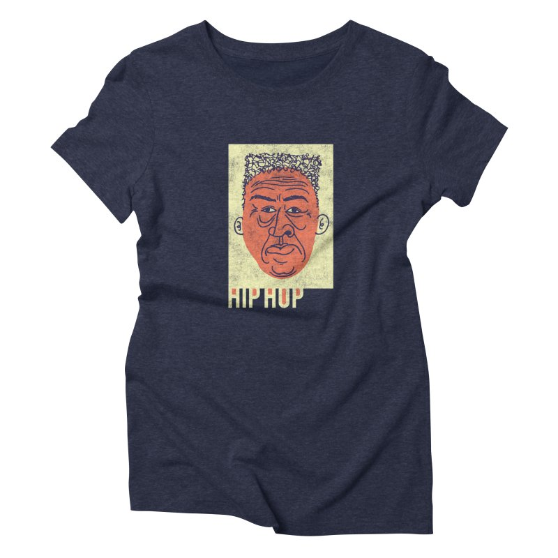Hip Hop Head Women's Triblend T-shirt by Zach Woomer's Little Shop